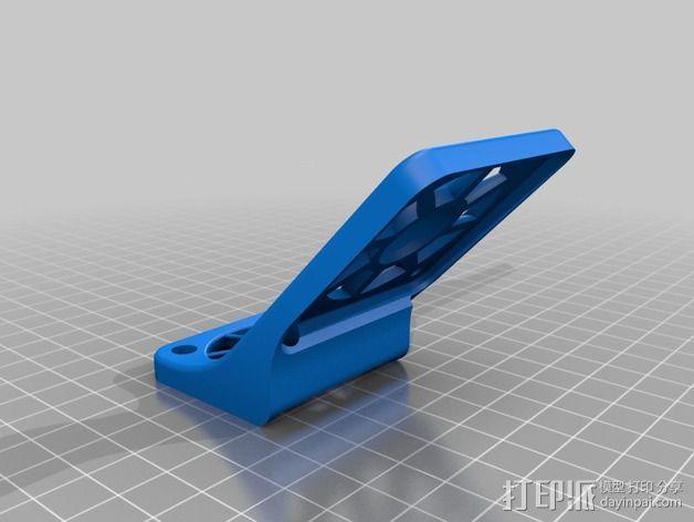 风扇罩 风扇固定架 3D模型  图2