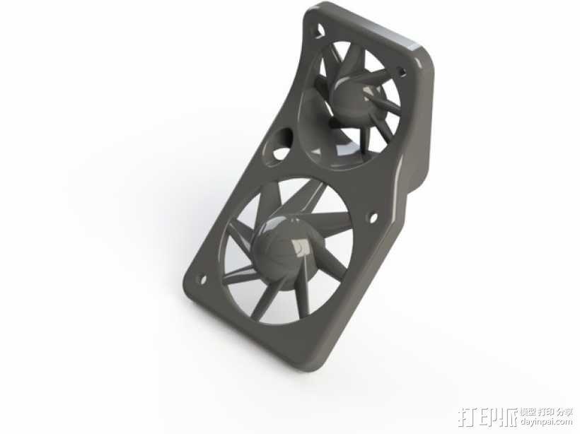 风扇罩 风扇固定架 3D模型  图1