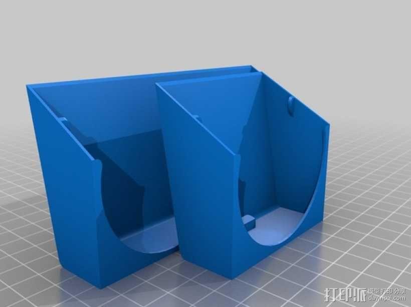可扣接的风扇通风导管 3D模型  图1