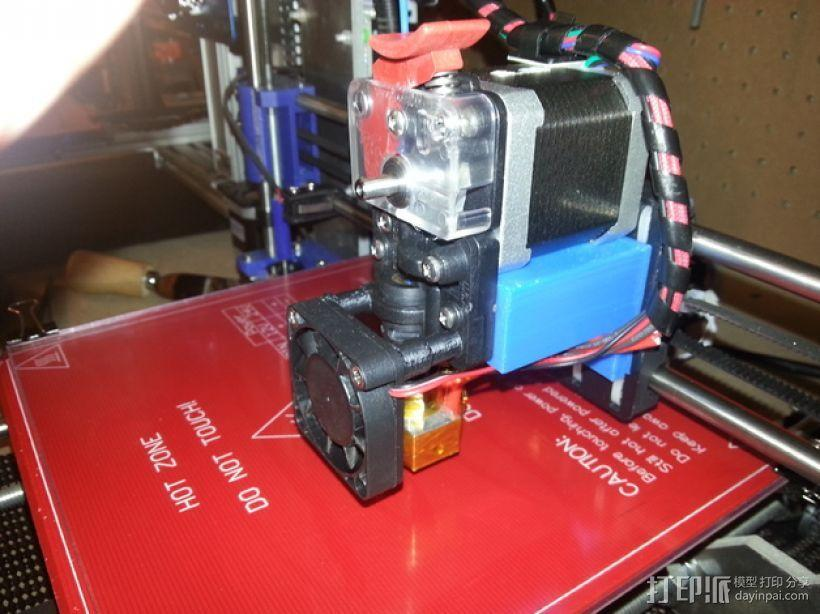 Prusa i3打印机的挤出机支架 3D模型  图1