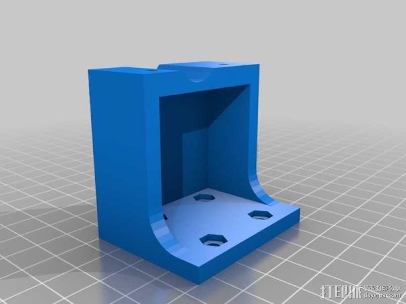 Prusa i3打印机的挤出机支架 3D模型  图2