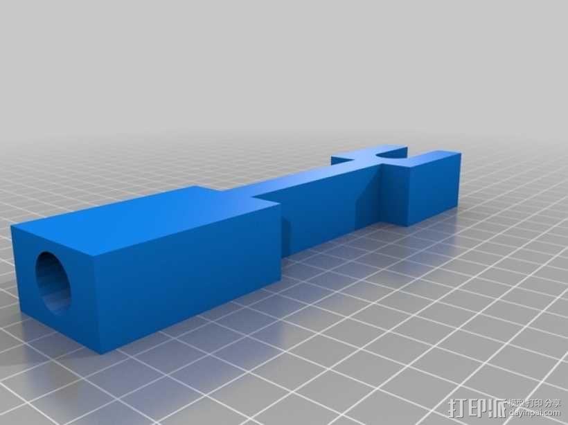 Printrbot Plus 打印机的材料支撑架 3D模型  图1
