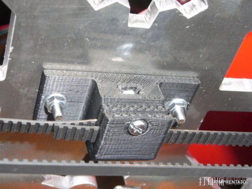 T2.5 皮带夹 3D模型  图1