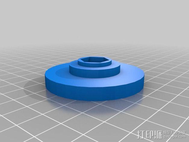 Makerbot Replicator 2/ 2X 打印机的底垫 3D模型  图2