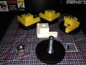 Makerbot Replicator 2/ 2X 打印机的底垫 3D模型