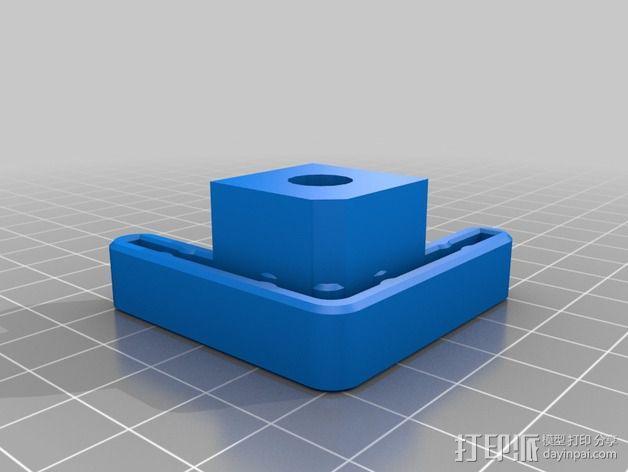 Makerbot Replicator 2/ 2X 打印机的底垫 3D模型  图3