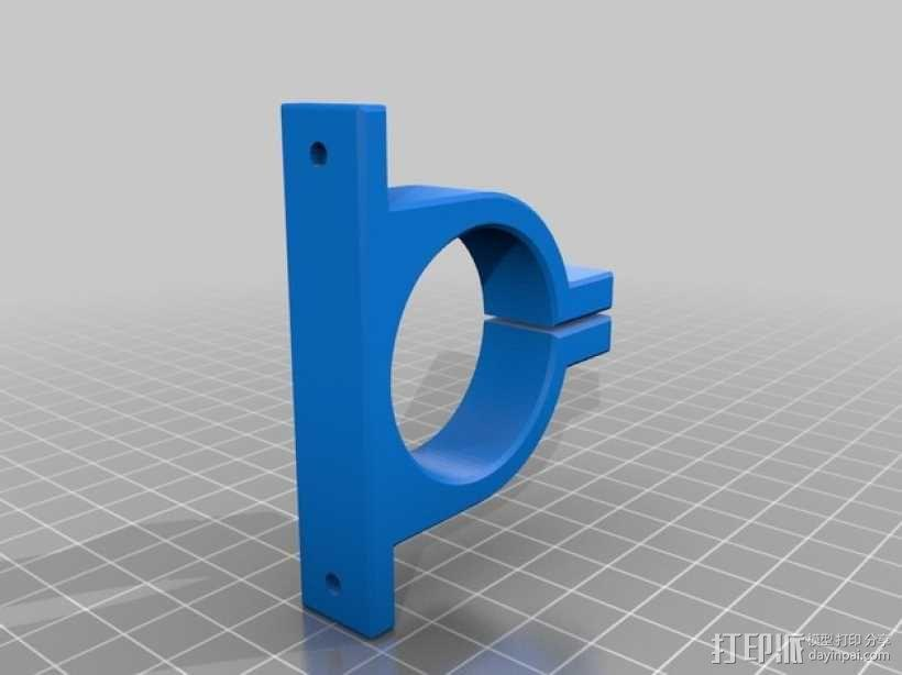 Kossel mini 打印机的挤出机夹 3D模型  图2