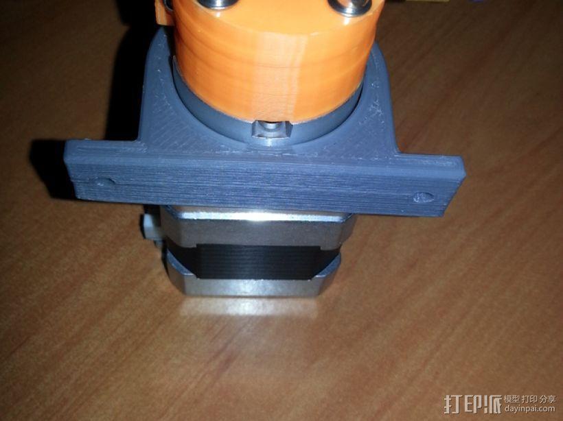 Kossel mini 打印机的挤出机夹 3D模型  图1