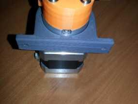 Kossel mini 打印机的挤出机夹 3D模型