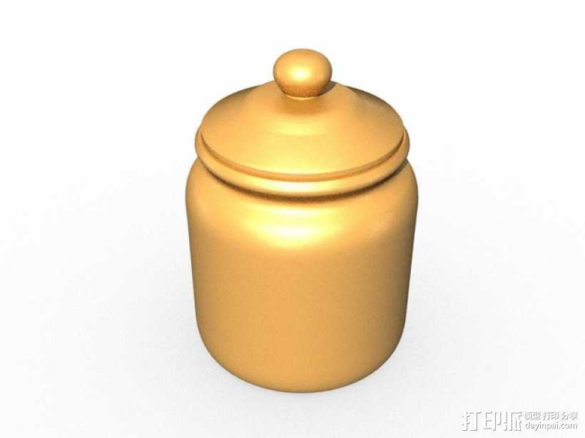 饼干罐 3D模型  图1