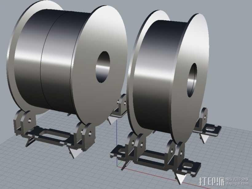 BCN3D+打印机的线轴支架 3D模型  图1