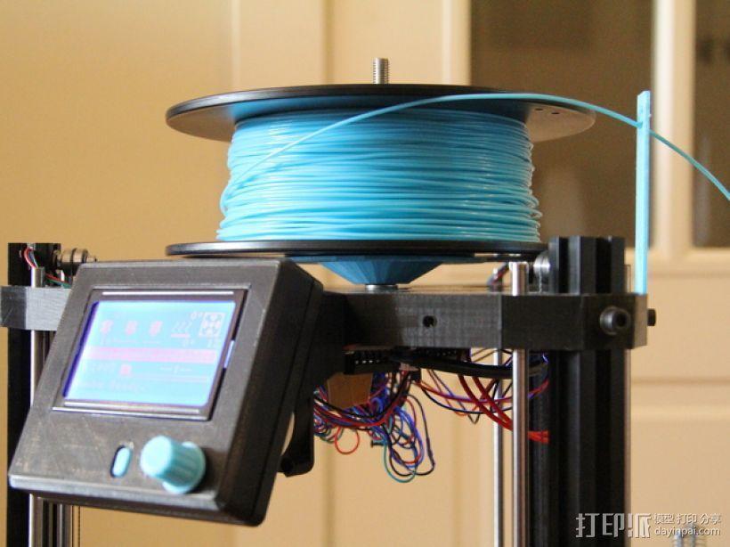 水平式线轴固定器· 3D模型  图1