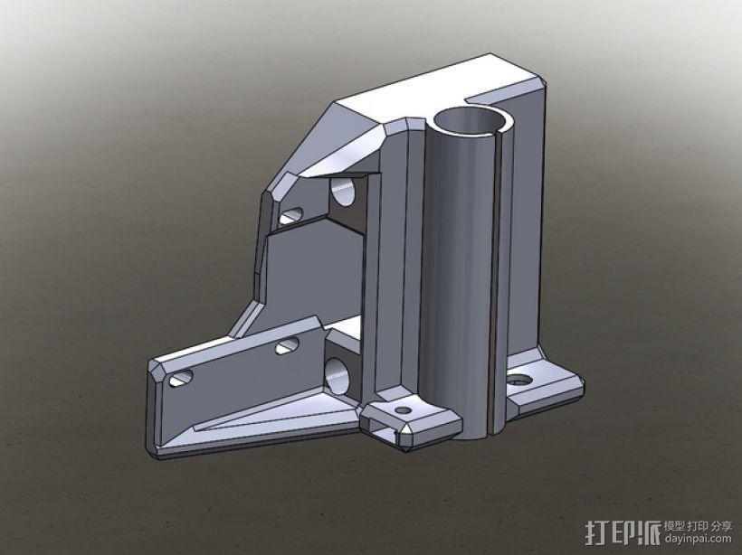 Prusa I3打印机的马达架 3D模型  图1