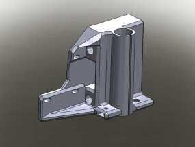 Prusa I3打印机的马达架 3D模型