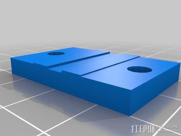 卡规/测径器支架 3D模型  图4