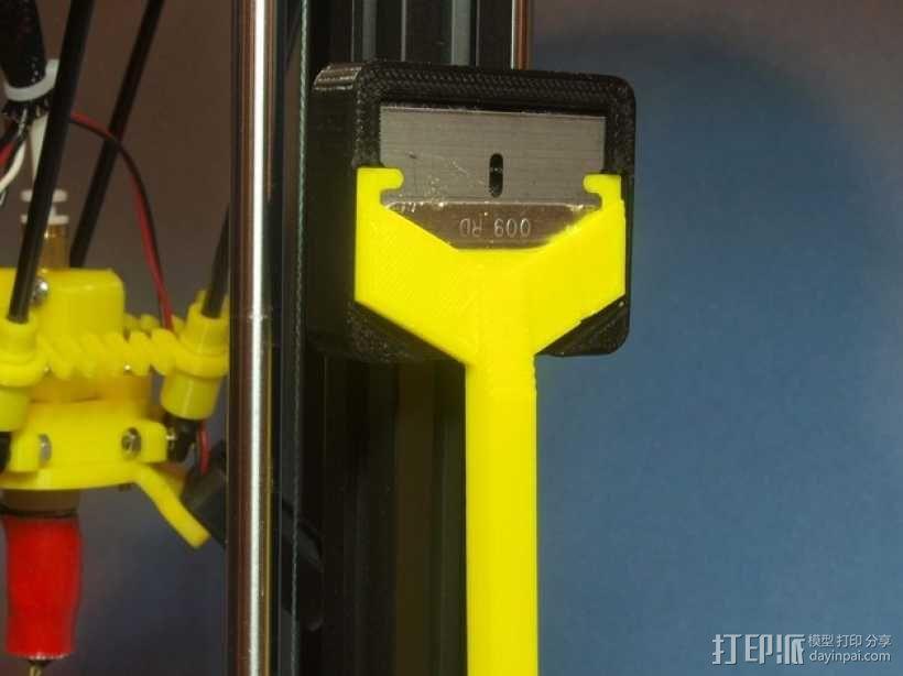 小刮刀刀柄 3D模型  图1