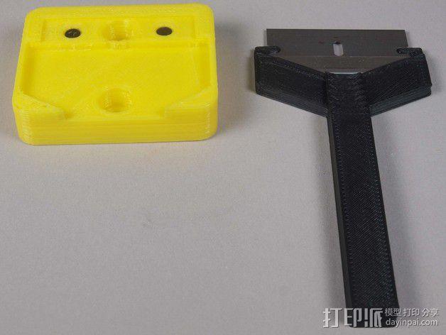 小刮刀刀柄 3D模型  图3