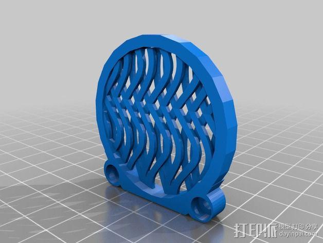 波浪形风扇罩 3D模型  图2