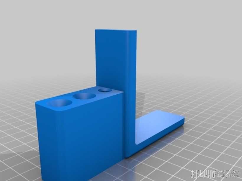 Replicator2 打印机的导线环和送料器 3D模型  图2