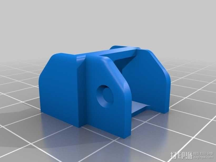 Replicator 2打印机的步进器/限位开关/锚链 3D模型  图2