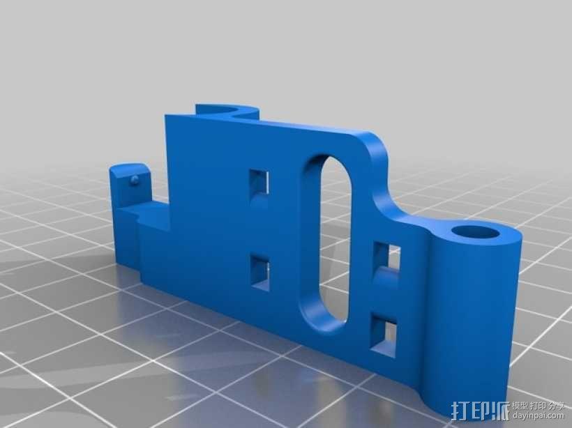 Replicator 2打印机的步进器/限位开关/锚链 3D模型  图4