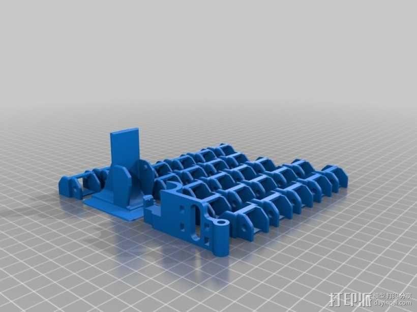 Replicator 2打印机的步进器/限位开关/锚链 3D模型  图5