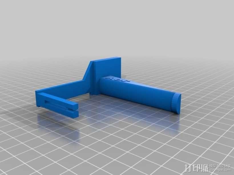 线轴支撑器 3D模型  图2