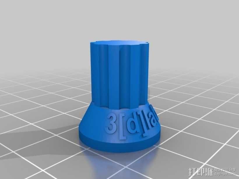 电位计按钮 3D模型  图1