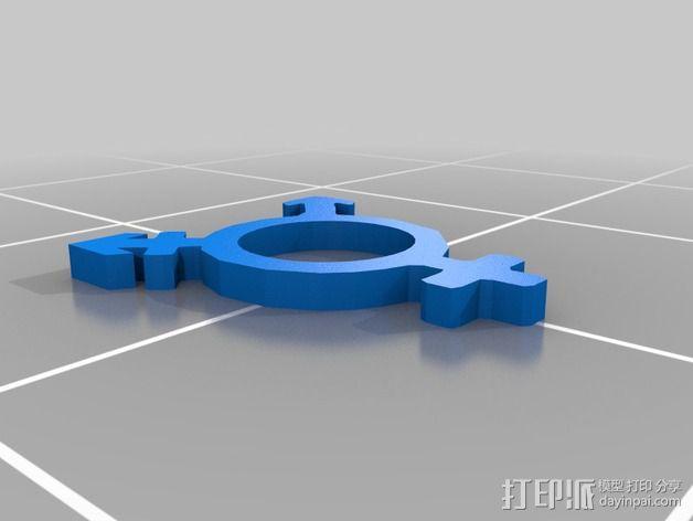 跨性别标志 3D模型  图2