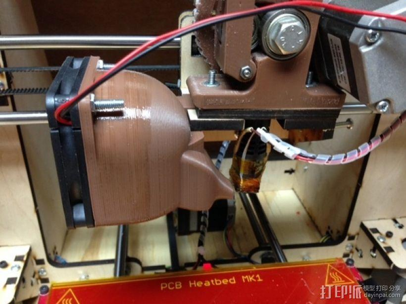 挤出机散热风扇 3D模型  图1