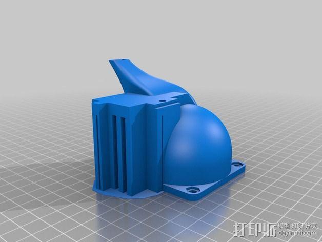 挤出机散热风扇 3D模型  图2