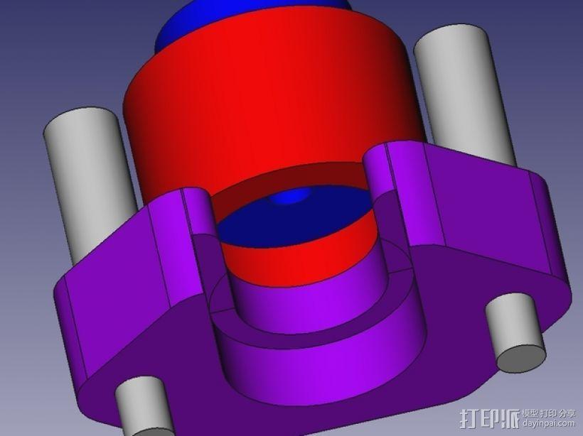 j_Head 喷头支架 3D模型  图2