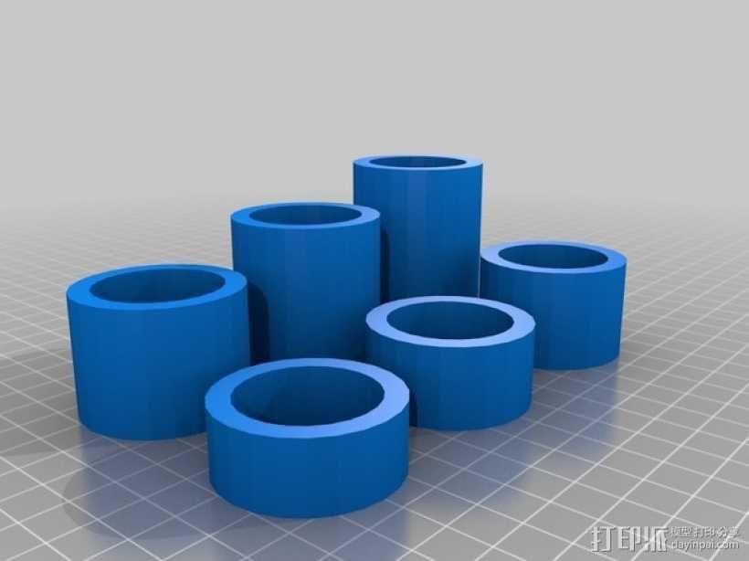FlashForge Creator打印机的线轴垫片 3D模型  图4