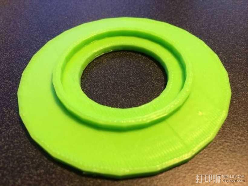 FlashForge Creator打印机的线轴垫片 3D模型  图6