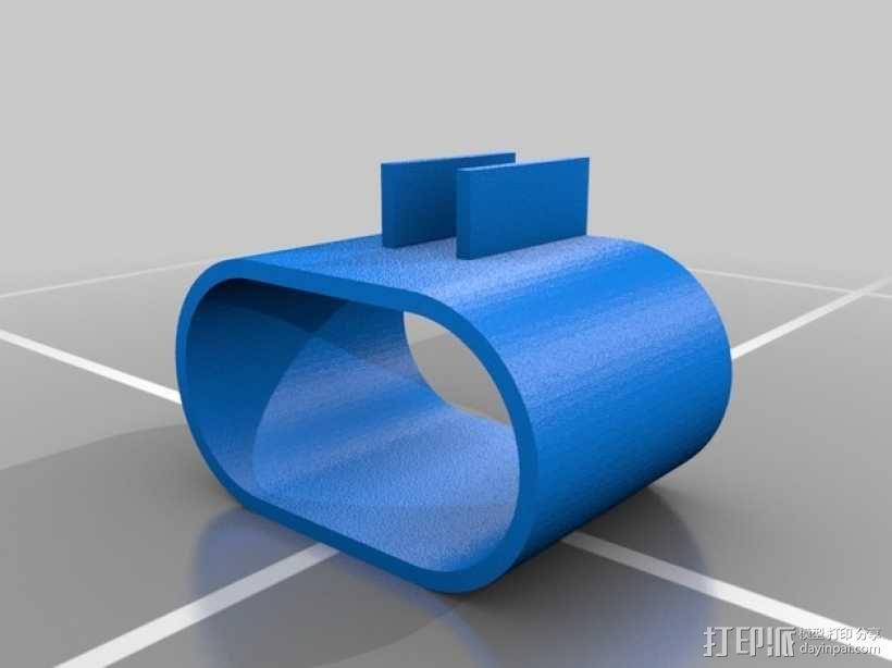 Printrbot Simple打印机的防震器 3D模型  图2