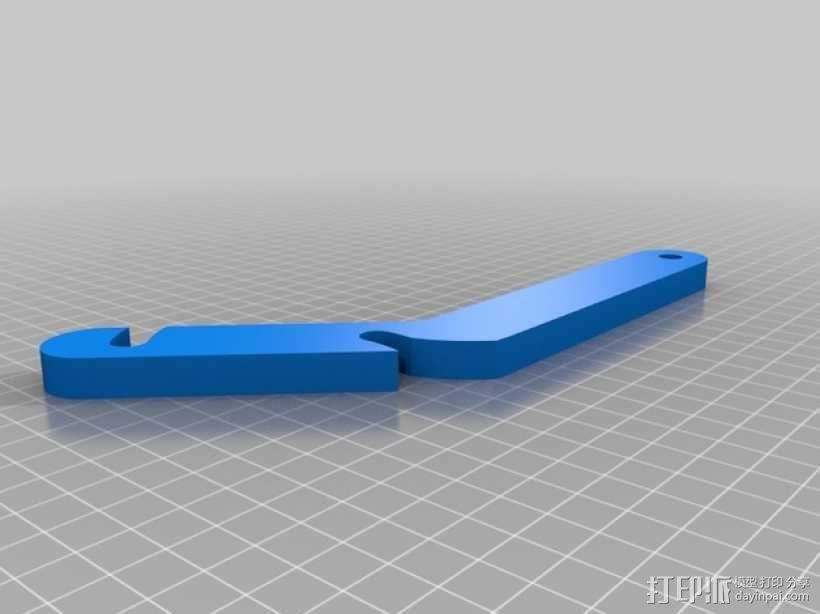 简易的线轴支架 3D模型  图3