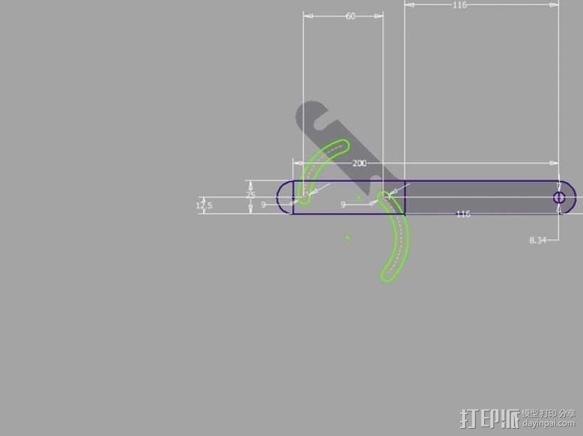 简易的线轴支架 3D模型  图5