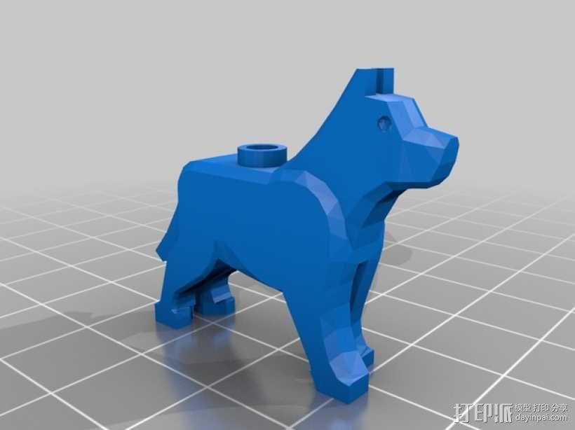 乐高狗狗摆件 3D模型  图1