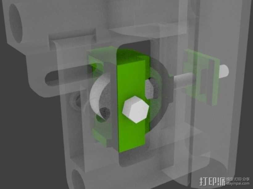 拉紧器 3D模型  图1