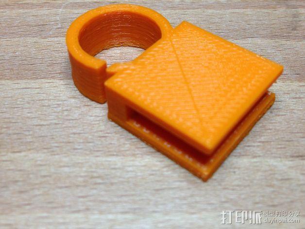 管夹 3D模型  图1