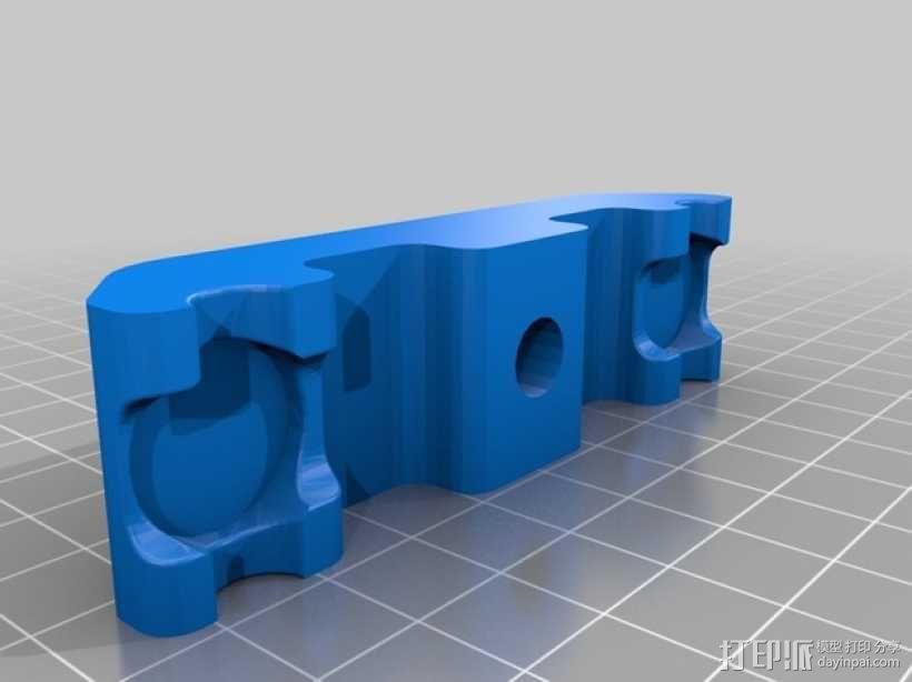 垂直面板适配器 3D模型  图1