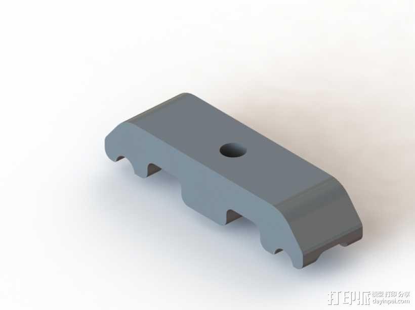 垂直面板适配器 3D模型  图3