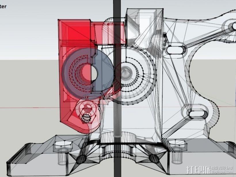 挤压器 3D模型  图4