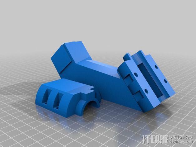 垂直安装适配器 3D模型  图2