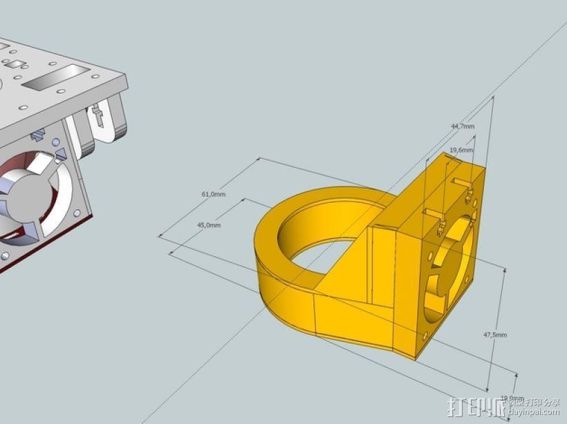 冷却风扇 3D模型  图1