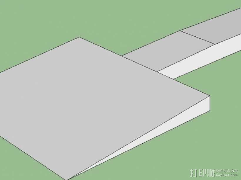 机床刮刀 3D模型  图1