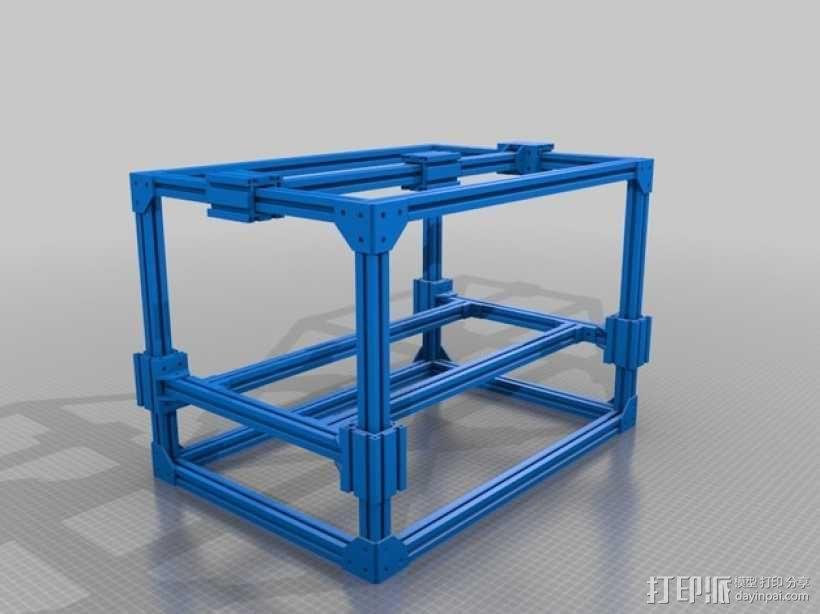 3D打印机框架 3D模型  图1