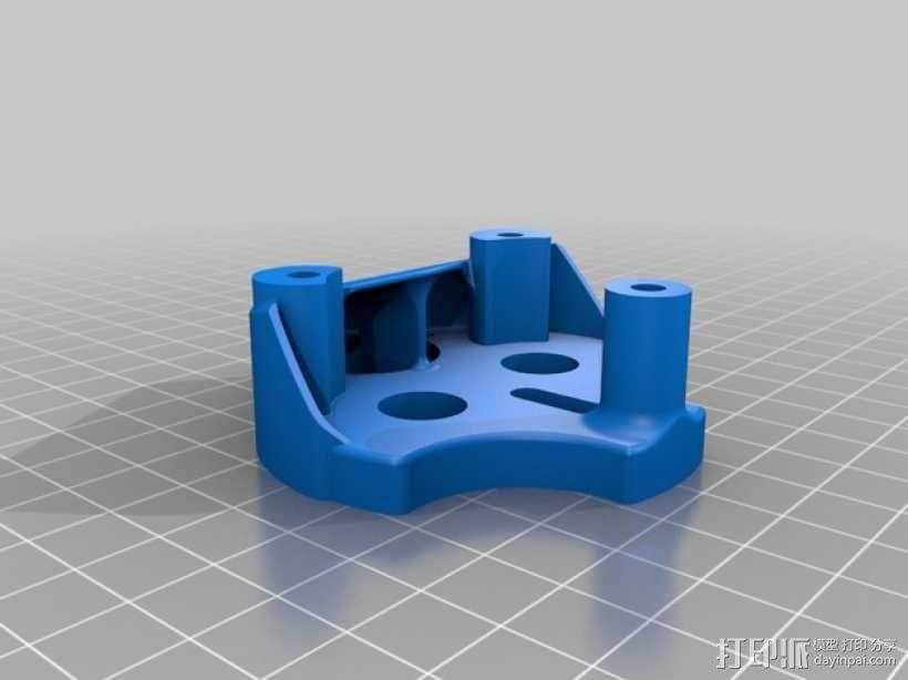 挤压器挂载 3D模型  图1