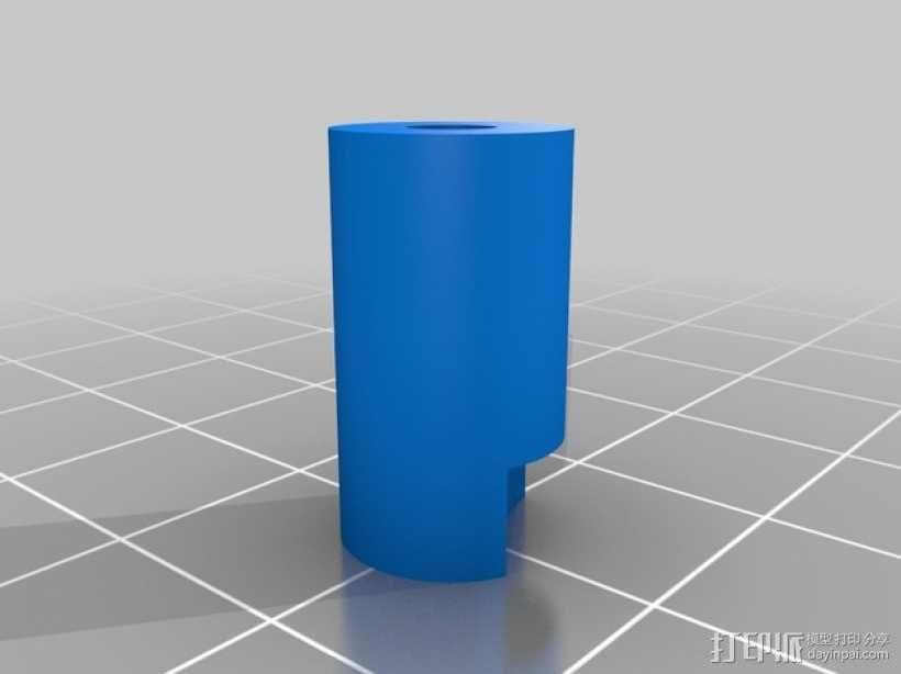 挤压器挂载 3D模型  图5
