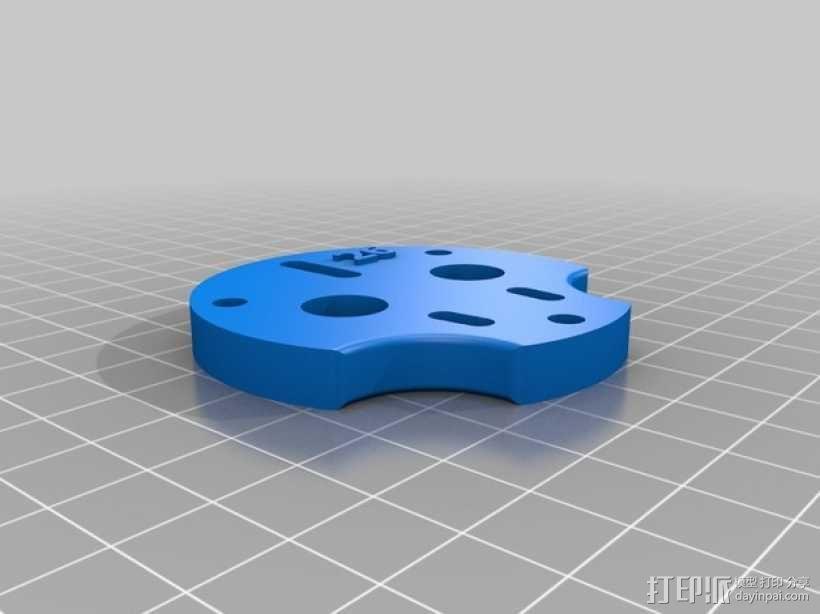 挤压器挂载 3D模型  图3